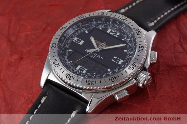 Used luxury watch Breitling B1 chronograph steel quartz Kal. B68 ETA E20.331 Ref. A68362  | 160326 01