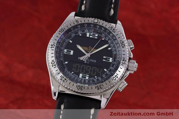 Used luxury watch Breitling B1 chronograph steel quartz Kal. B68 ETA E20.331 Ref. A68362  | 160326 04