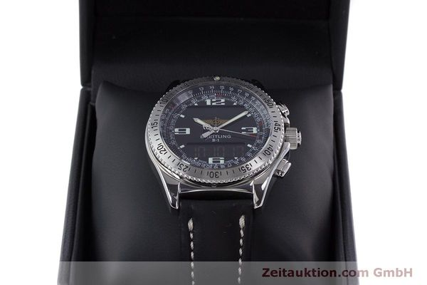 Used luxury watch Breitling B1 chronograph steel quartz Kal. B68 ETA E20.331 Ref. A68362  | 160326 07