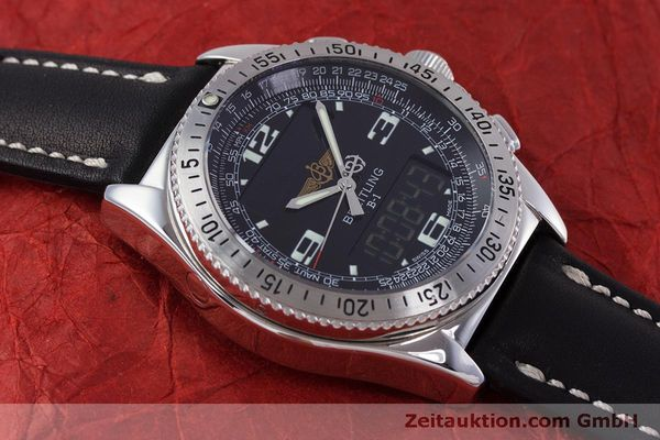 Used luxury watch Breitling B1 chronograph steel quartz Kal. B68 ETA E20.331 Ref. A68362  | 160326 11