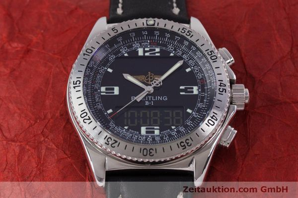 Used luxury watch Breitling B1 chronograph steel quartz Kal. B68 ETA E20.331 Ref. A68362  | 160326 12