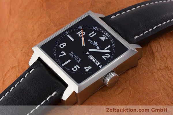 Used luxury watch Fortis Square  steel automatic Kal. ETA 2836-2 Ref. 653.10.158  | 160333 01