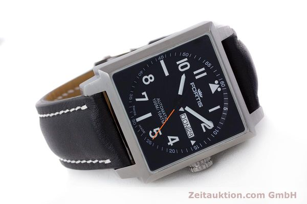 Used luxury watch Fortis Square  steel automatic Kal. ETA 2836-2 Ref. 653.10.158  | 160333 03