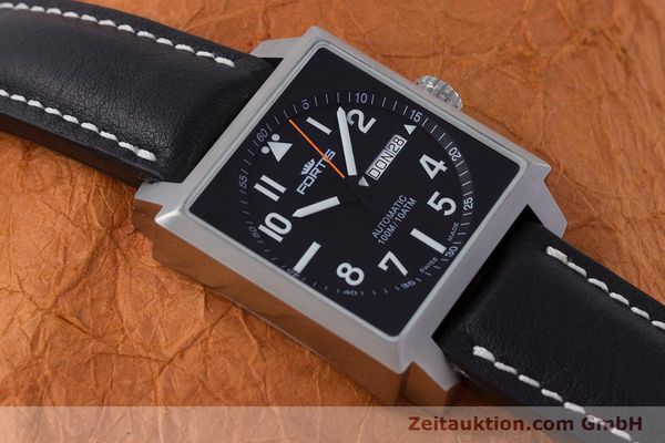 Used luxury watch Fortis Square  steel automatic Kal. ETA 2836-2 Ref. 653.10.158  | 160333 12