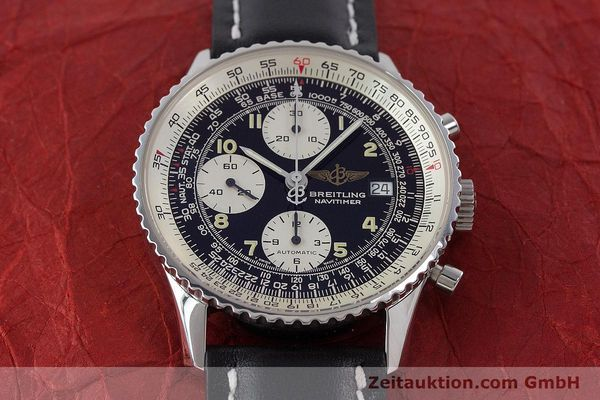 Used luxury watch Breitling Navitimer chronograph steel automatic Kal. B13 ETA 7750 Ref. A13022  | 160367 15