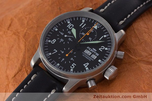 Used luxury watch Fortis Flieger Chronograph chronograph steel automatic Kal. ETA 7750 Ref. 597.10.141.2  | 160376 01
