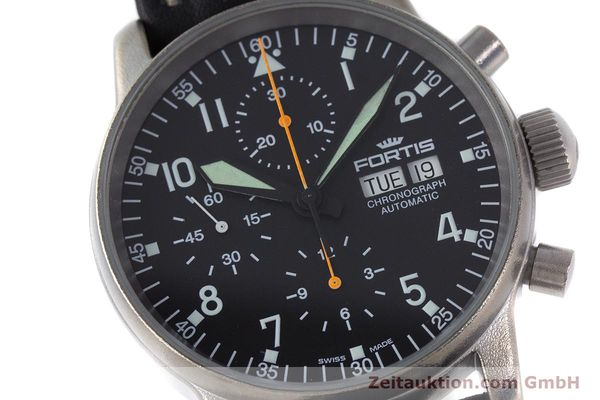 Used luxury watch Fortis Flieger Chronograph chronograph steel automatic Kal. ETA 7750 Ref. 597.10.141.2  | 160376 02