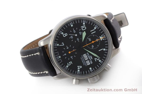 Used luxury watch Fortis Flieger Chronograph chronograph steel automatic Kal. ETA 7750 Ref. 597.10.141.2  | 160376 03