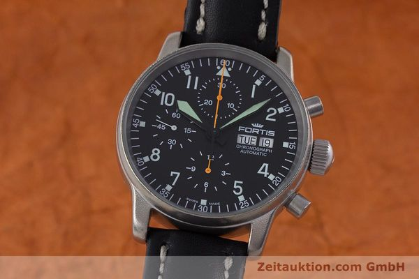 Used luxury watch Fortis Flieger Chronograph chronograph steel automatic Kal. ETA 7750 Ref. 597.10.141.2  | 160376 04