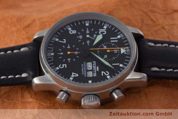 Used luxury watch Fortis Flieger Chronograph chronograph steel automatic Kal. ETA 7750 Ref. 597.10.141.2  | 160376 05