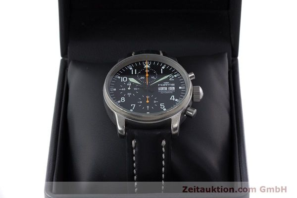 Used luxury watch Fortis Flieger Chronograph chronograph steel automatic Kal. ETA 7750 Ref. 597.10.141.2  | 160376 07
