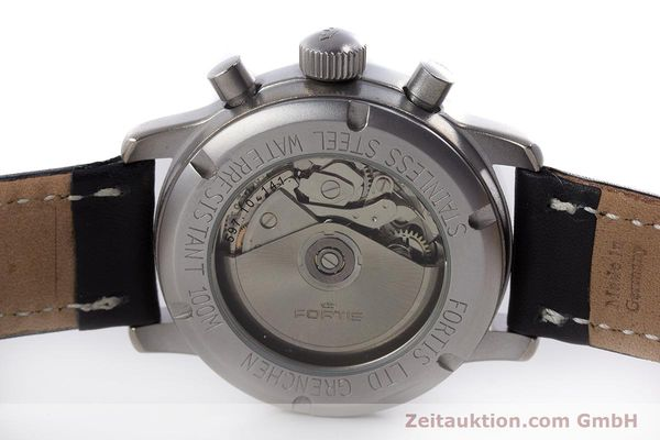 Used luxury watch Fortis Flieger Chronograph chronograph steel automatic Kal. ETA 7750 Ref. 597.10.141.2  | 160376 09