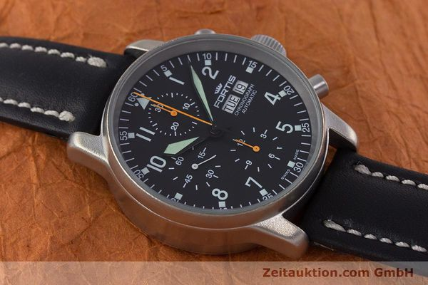 Used luxury watch Fortis Flieger Chronograph chronograph steel automatic Kal. ETA 7750 Ref. 597.10.141.2  | 160376 14