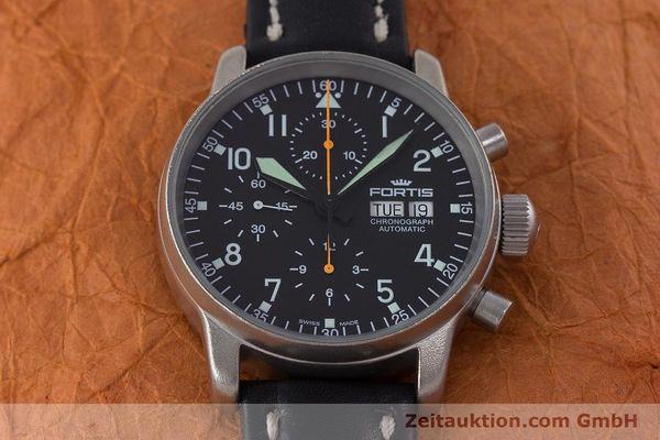 Used luxury watch Fortis Flieger Chronograph chronograph steel automatic Kal. ETA 7750 Ref. 597.10.141.2  | 160376 15