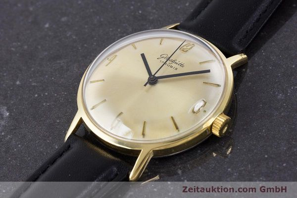 Used luxury watch Glashütte * gold-plated manual winding Kal. 69.1  | 160385 01