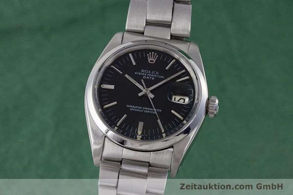 Used luxury watch Rolex Date steel automatic Kal. 1560 Ref. 1500 VINTAGE  | 160388 04