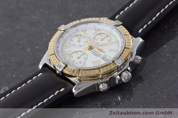 Used luxury watch Breitling Crosswind chronograph steel / gold automatic Kal. B13 ETA 7750 Ref. D13055  | 160394 01