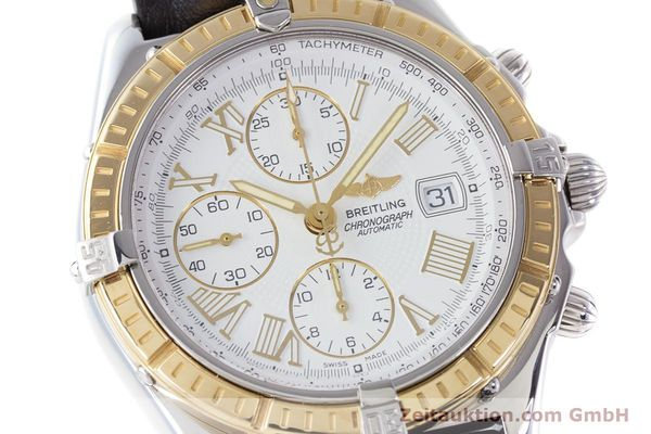Used luxury watch Breitling Crosswind chronograph steel / gold automatic Kal. B13 ETA 7750 Ref. D13055  | 160394 02