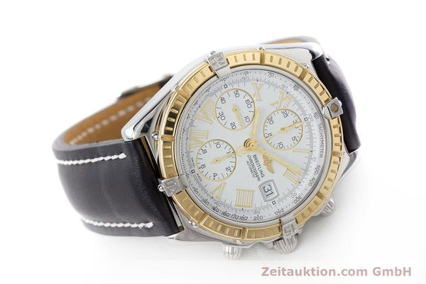 Used luxury watch Breitling Crosswind chronograph steel / gold automatic Kal. B13 ETA 7750 Ref. D13055  | 160394 03