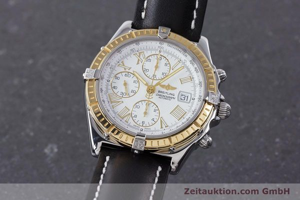 Used luxury watch Breitling Crosswind chronograph steel / gold automatic Kal. B13 ETA 7750 Ref. D13055  | 160394 04