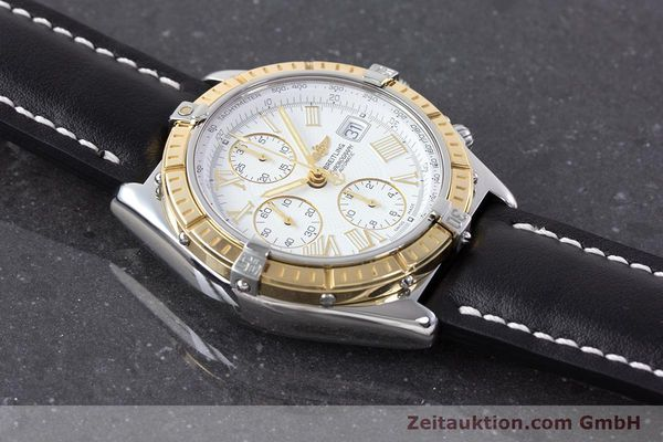 Used luxury watch Breitling Crosswind chronograph steel / gold automatic Kal. B13 ETA 7750 Ref. D13055  | 160394 14