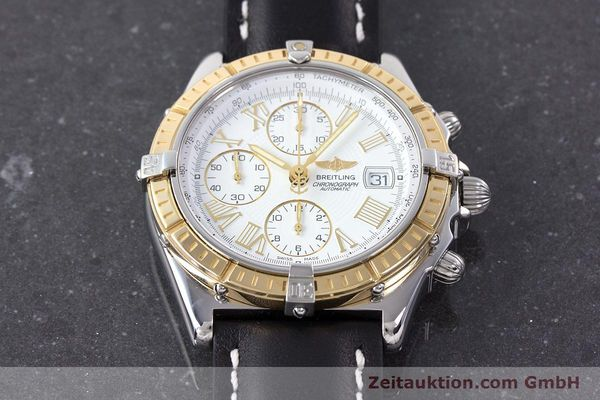 Used luxury watch Breitling Crosswind chronograph steel / gold automatic Kal. B13 ETA 7750 Ref. D13055  | 160394 15