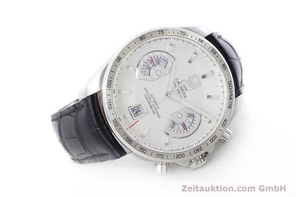 Used luxury watch Tag Heuer Carrera chronograph steel automatic Kal. 17 ETA 2894-2 Ref. CAV511B  | 160402 03