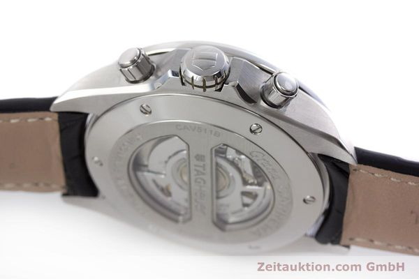 Used luxury watch Tag Heuer Carrera chronograph steel automatic Kal. 17 ETA 2894-2 Ref. CAV511B  | 160402 11