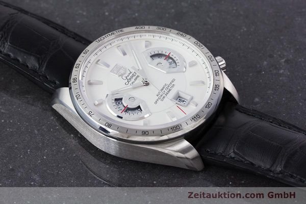 Used luxury watch Tag Heuer Carrera chronograph steel automatic Kal. 17 ETA 2894-2 Ref. CAV511B  | 160402 15