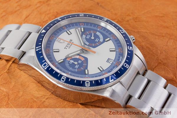 Used luxury watch Tudor Heritage Chronograph  chronograph steel automatic Kal. ETA 2892-A2 Ref. 70330B  | 160407 17