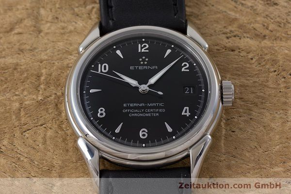 Used luxury watch Eterna 1948 steel automatic Kal. ETA 2824-2 Ref. 148.422  | 160423 15