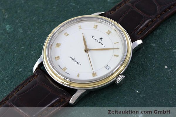 Used luxury watch Blancpain Villeret steel / gold automatic Kal. 11.51  | 160433 01
