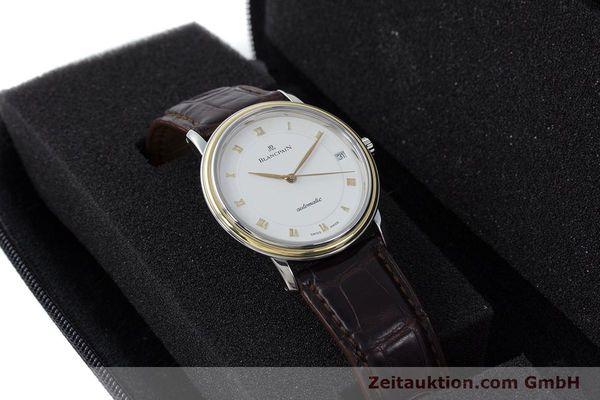 Used luxury watch Blancpain Villeret steel / gold automatic Kal. 11.51  | 160433 07