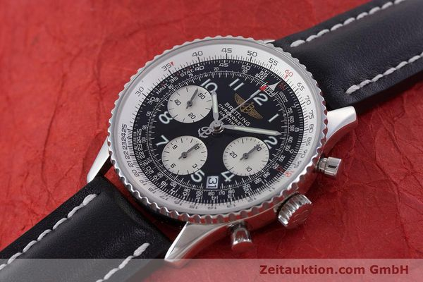 Used luxury watch Breitling Navitimer chronograph steel automatic Kal. B23 ETA 7753 Ref. A23322  | 160441 01