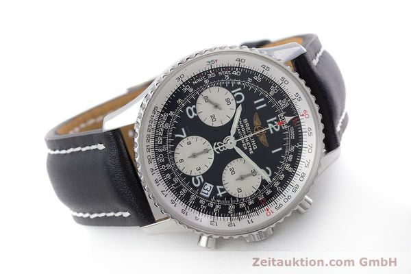 Used luxury watch Breitling Navitimer chronograph steel automatic Kal. B23 ETA 7753 Ref. A23322  | 160441 03