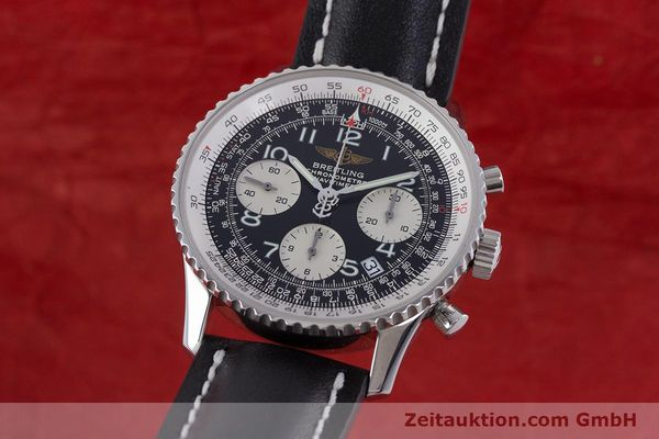 Used luxury watch Breitling Navitimer chronograph steel automatic Kal. B23 ETA 7753 Ref. A23322  | 160441 04