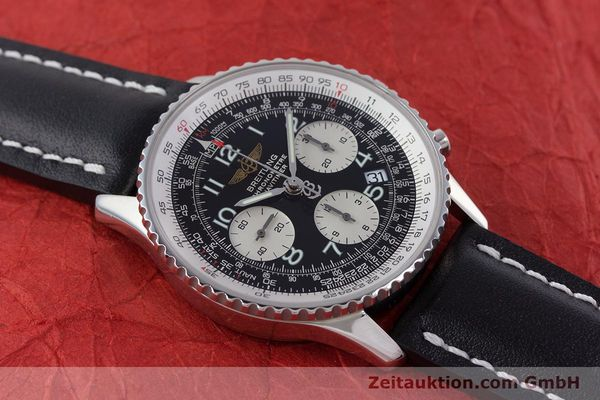 Used luxury watch Breitling Navitimer chronograph steel automatic Kal. B23 ETA 7753 Ref. A23322  | 160441 14