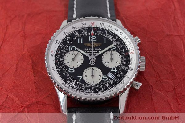 Used luxury watch Breitling Navitimer chronograph steel automatic Kal. B23 ETA 7753 Ref. A23322  | 160441 15