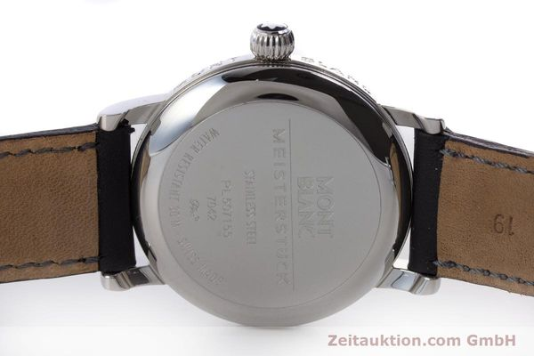 Used luxury watch Montblanc Meisterstück steel automatic Kal. 4810401 ETA 2892A2 Ref. 7042  | 160451 09