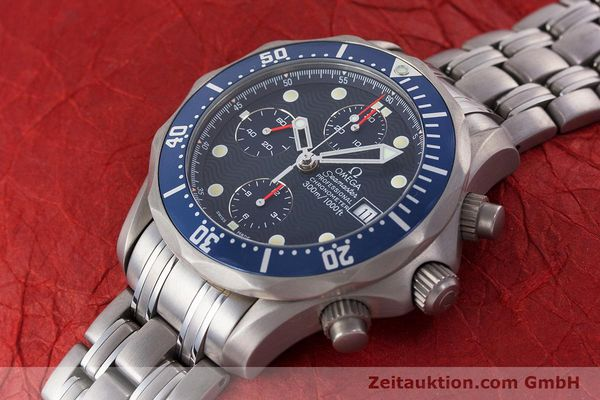 Used luxury watch Omega Seamaster chronograph titanium automatic Kal. 1154 ETA 7750  | 160460 01