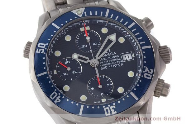 Used luxury watch Omega Seamaster chronograph titanium automatic Kal. 1154 ETA 7750  | 160460 02