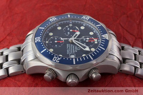 Used luxury watch Omega Seamaster chronograph titanium automatic Kal. 1154 ETA 7750  | 160460 05