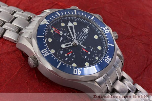 Used luxury watch Omega Seamaster chronograph titanium automatic Kal. 1154 ETA 7750  | 160460 16