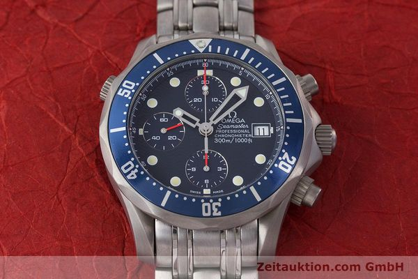 Used luxury watch Omega Seamaster chronograph titanium automatic Kal. 1154 ETA 7750  | 160460 17