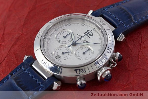 Used luxury watch Cartier Pasha chronograph steel automatic Kal. 205 Ref. 2113  | 160471 01