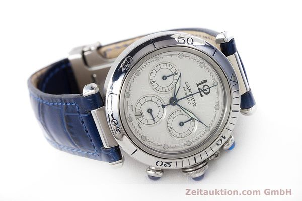 Used luxury watch Cartier Pasha chronograph steel automatic Kal. 205 Ref. 2113  | 160471 03