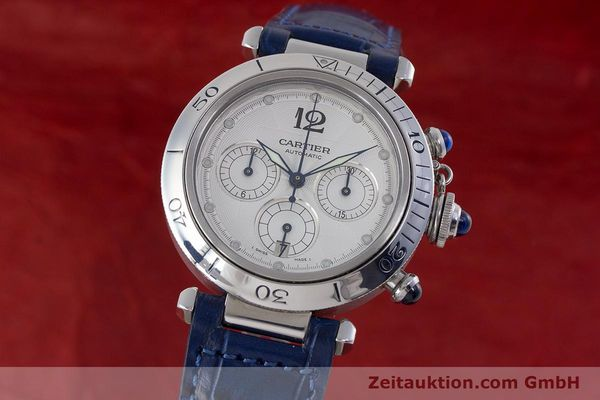 Used luxury watch Cartier Pasha chronograph steel automatic Kal. 205 Ref. 2113  | 160471 04