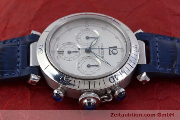 Used luxury watch Cartier Pasha chronograph steel automatic Kal. 205 Ref. 2113  | 160471 05