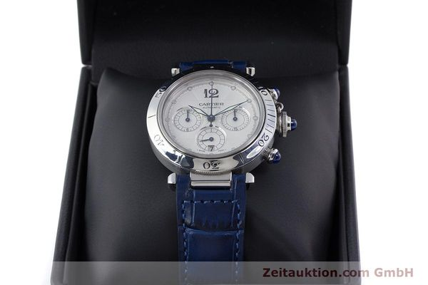 Used luxury watch Cartier Pasha chronograph steel automatic Kal. 205 Ref. 2113  | 160471 07
