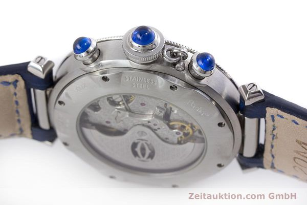 Used luxury watch Cartier Pasha chronograph steel automatic Kal. 205 Ref. 2113  | 160471 08